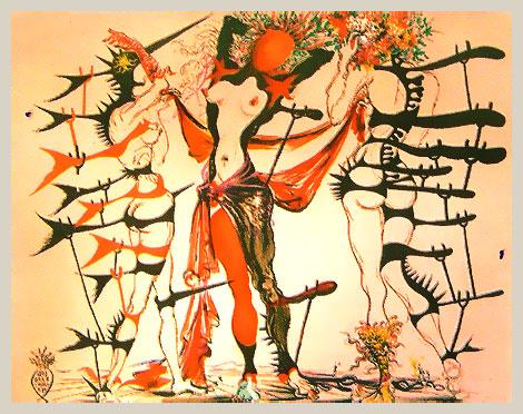 Сальвадор Дали Женщины-цветы 1970 г литография из коллекции Александра Шадрина