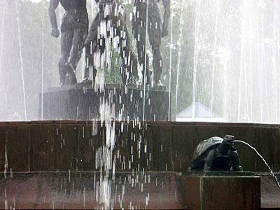 Фонтан в Театральном сквере Ростова-на-Дону, фото Сусловой Полины