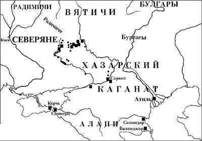 Местоположение  крепости Саркел, Ростовская область