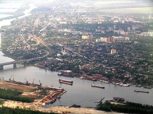 Ростов-на-Дону, вид с левого берега Дона
