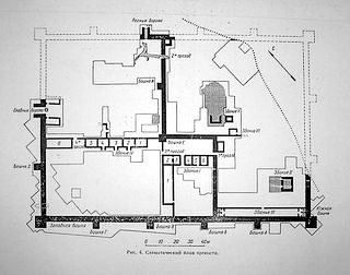 План  крепости Саркел, Ростовская область