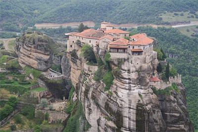 Монастырь в Метеорах, Греция 2009 год, фото Веры Волошиновой