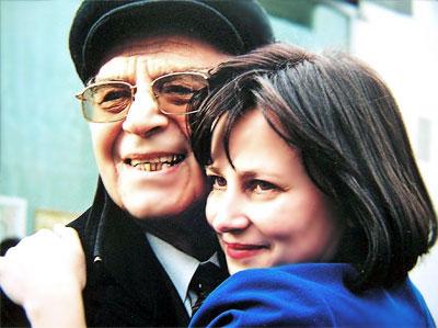 Светлана Сопова (директор Новошахтинского театара) и  Михаил Бушнов  Ильич (Народный артист СССР), фото Веры Волошиновой